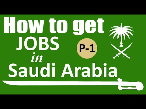 How to get job in Saudi arabia